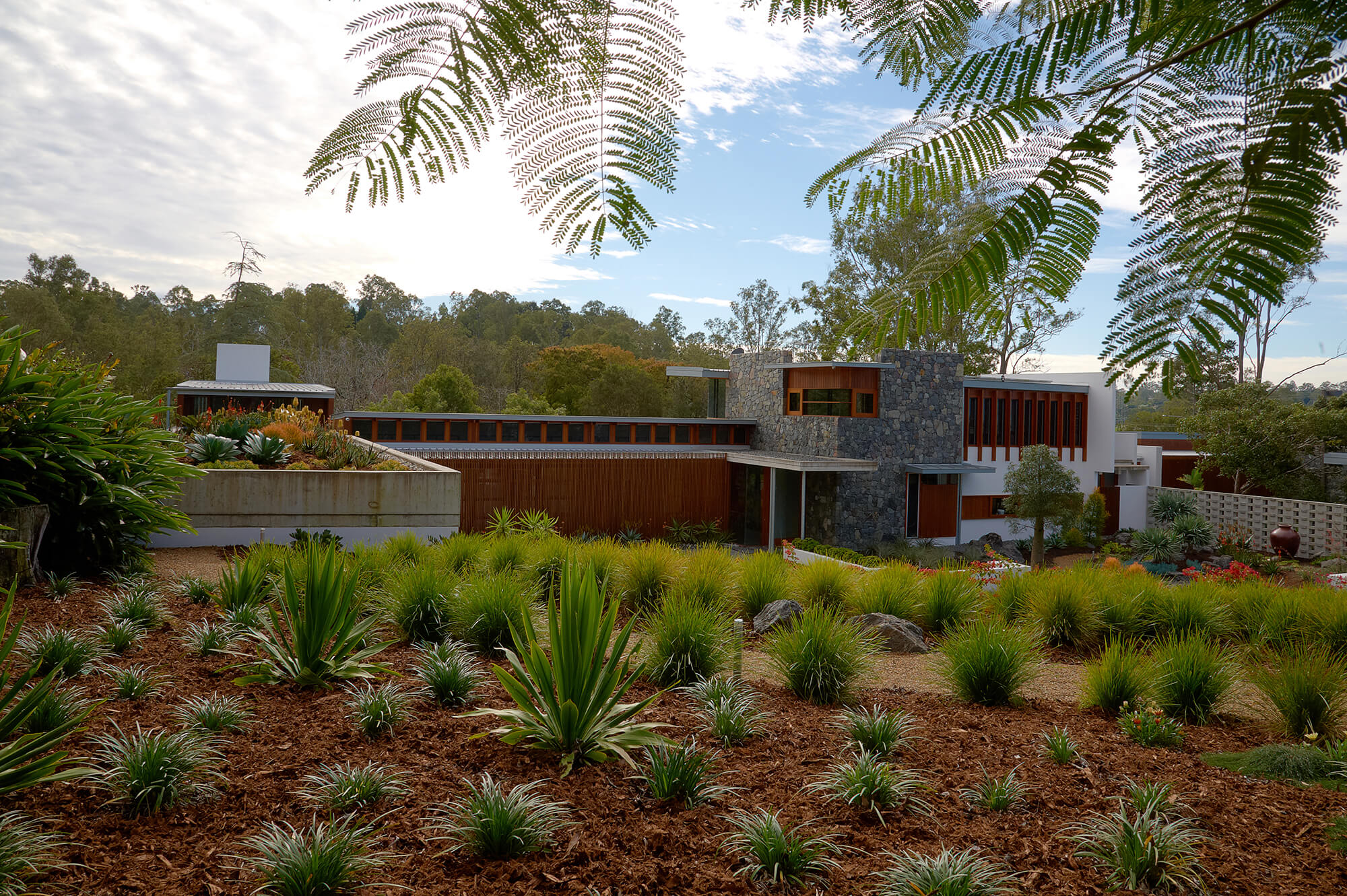 brookfield contemporary arid landscaping front landscaping