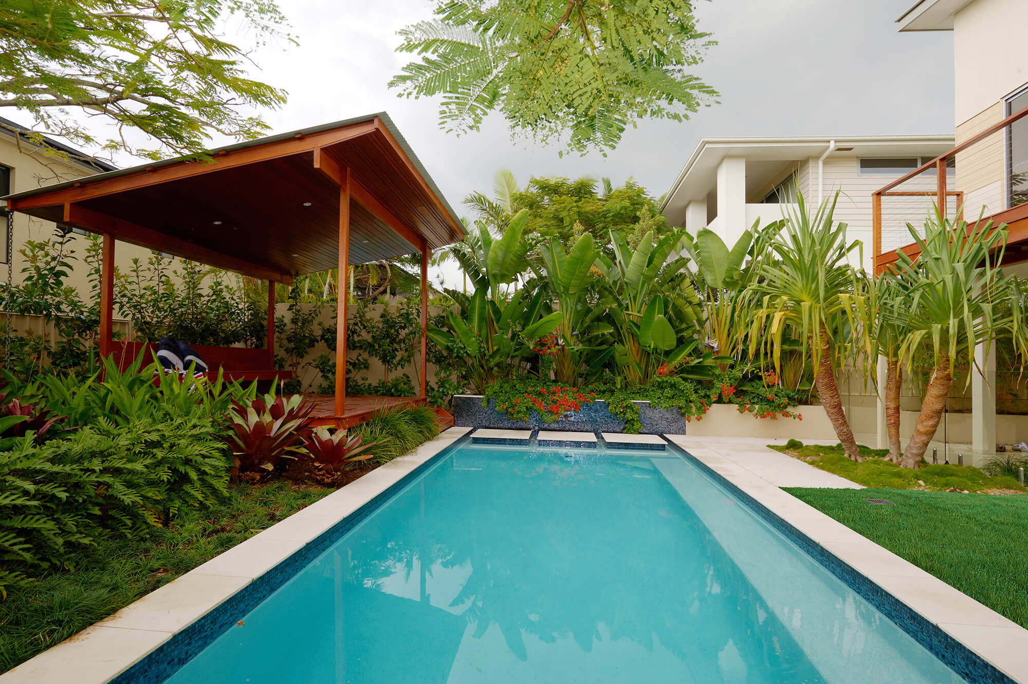 indooroopilly poolscaping tropical garden
