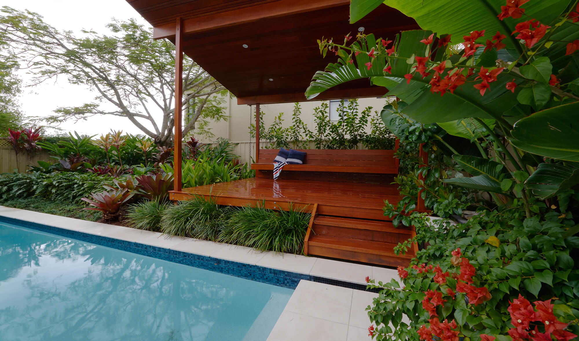 indooroopilly poolscaping tropical pool terrace