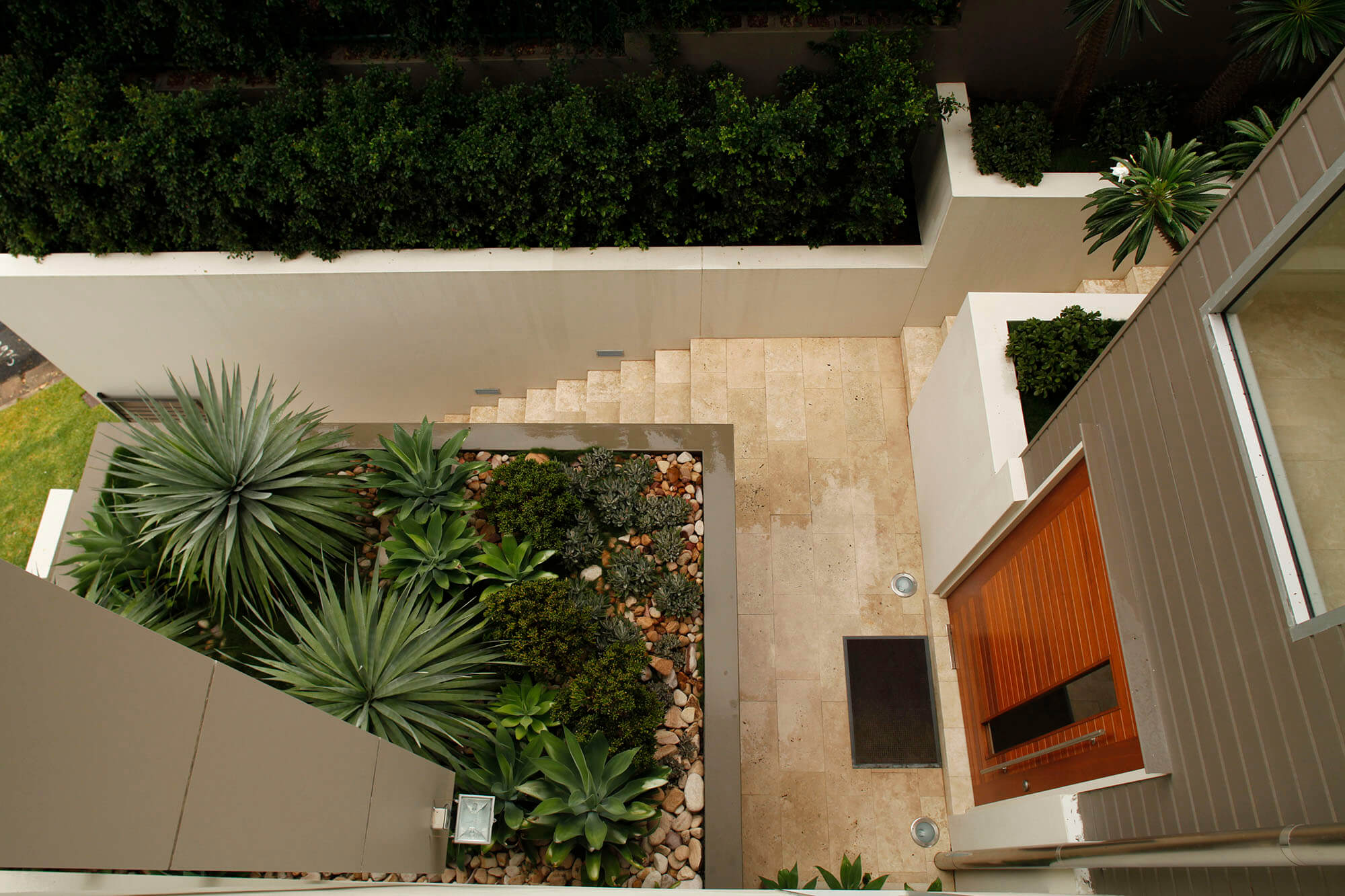 hamilton contemporary terraced garden