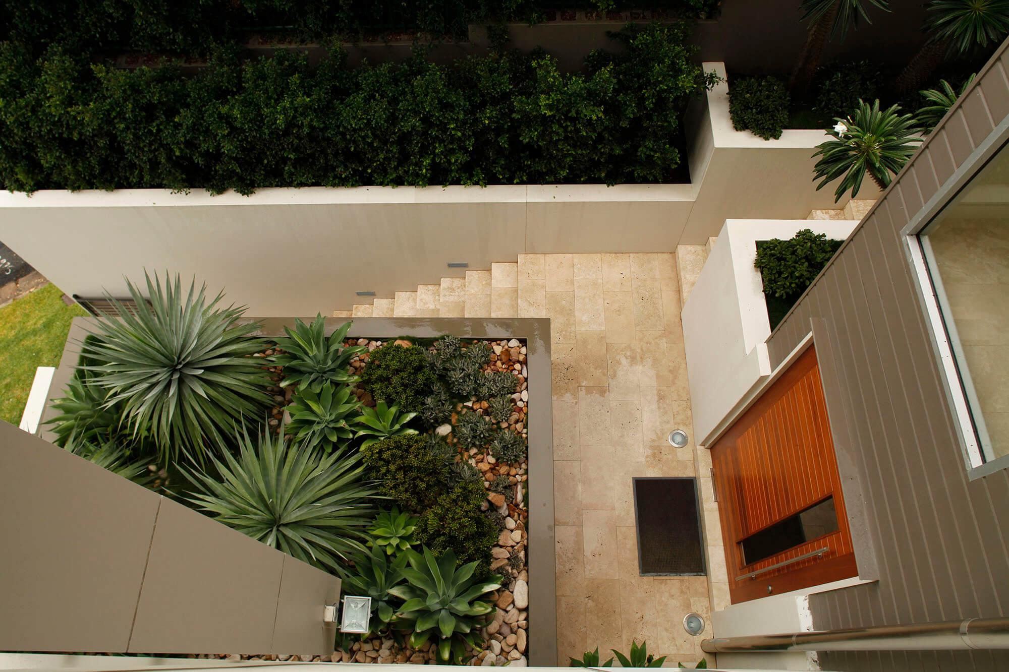 hamilton contemporary terraced garden