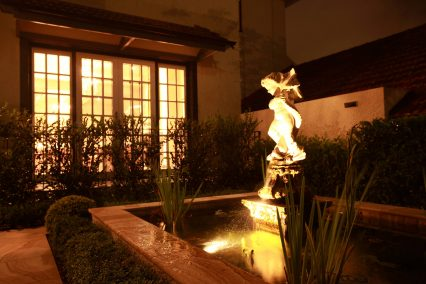 clayfield traditional water feature lighting