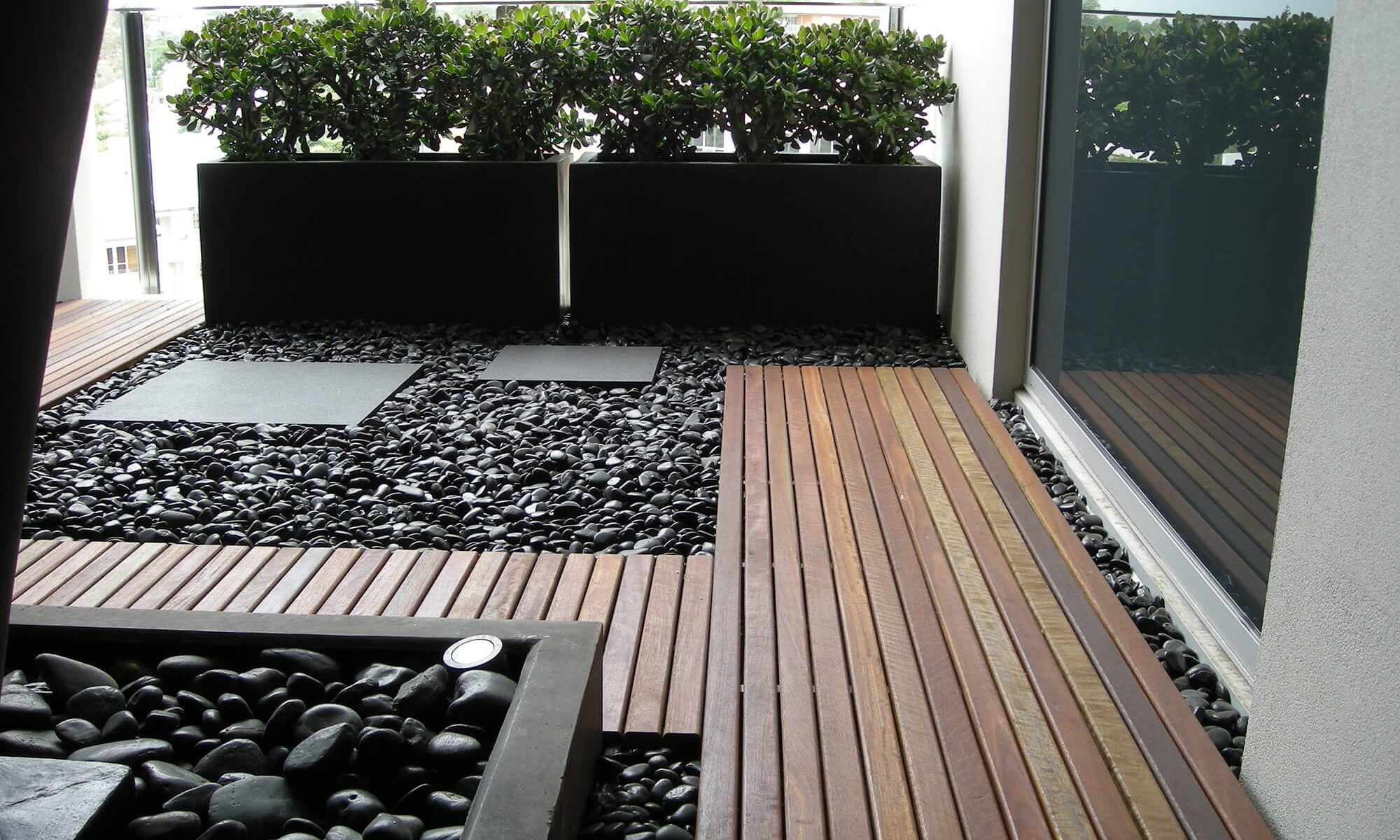 new farm apartment decking