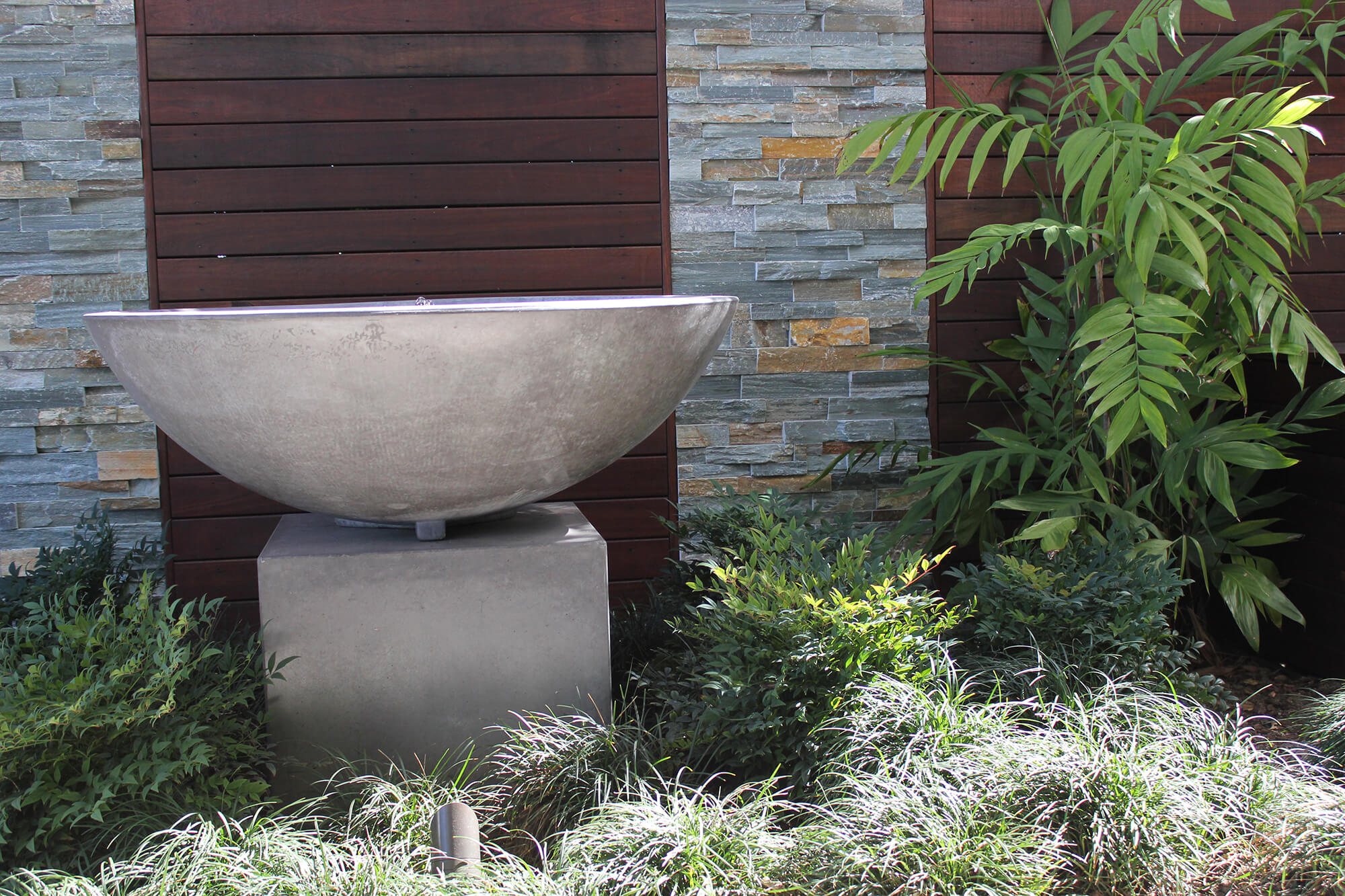 ascot outdoor lighting and water feature bowl